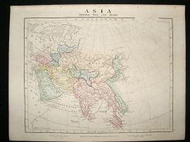 Asia: 1864 Antique Map, Aaron Arrowsmith